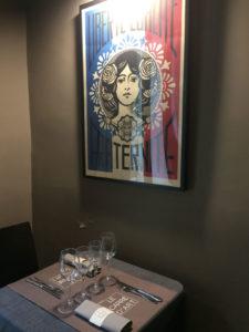 Franck Shepard fairey 1 exposition restaurant le Carré d'art à Nîmes