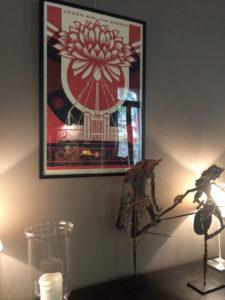 Franck Shepard fairey 2 exposition restaurant le Carré d'art à Nîmes