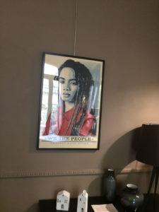 Franck Shepard fairey 5 exposition restaurant le Carré d'art à Nîmes